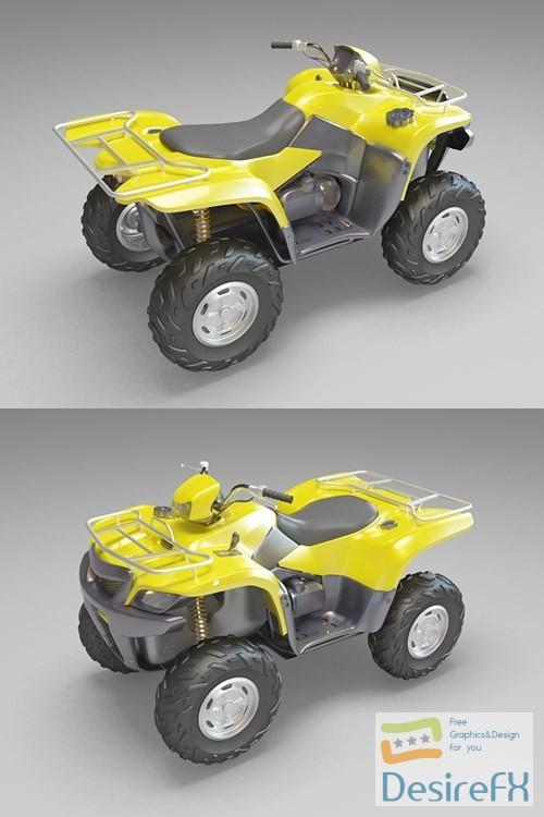 ATV Quad 3D Model
