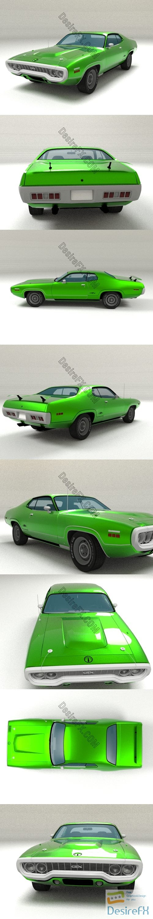 Plymouth GTX 3D Model