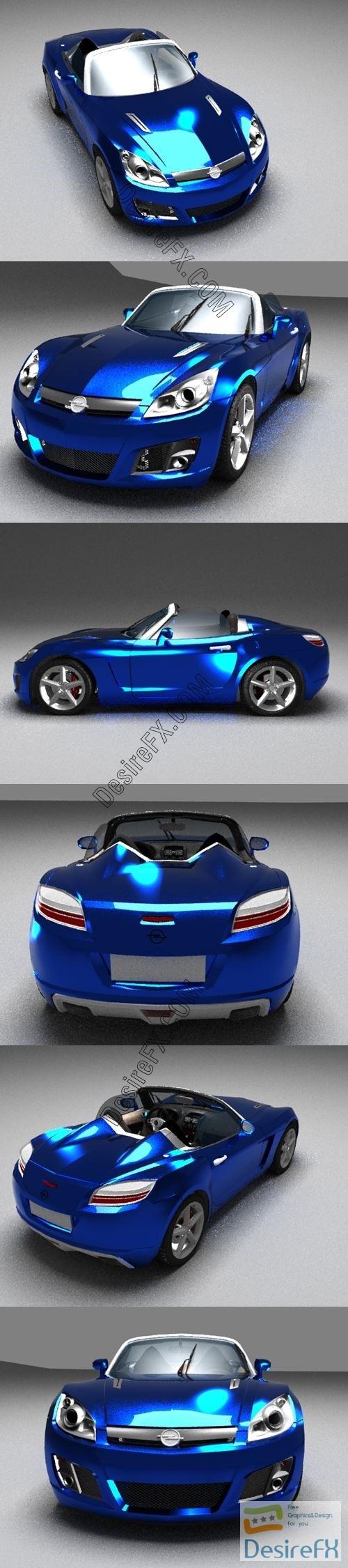 Opel GT 3D Model