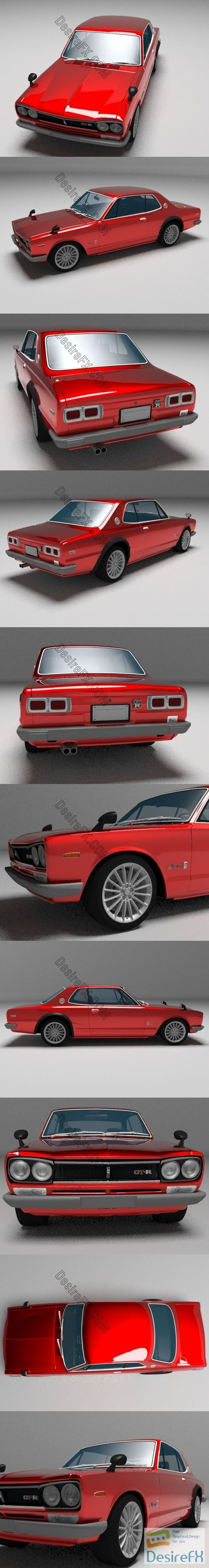 3d-models - Nissan Skyline 2000 GT-R 3D Model