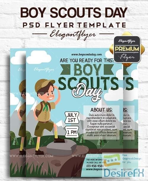 Boy Scouts Day V1 2018 Flyer PSD Template