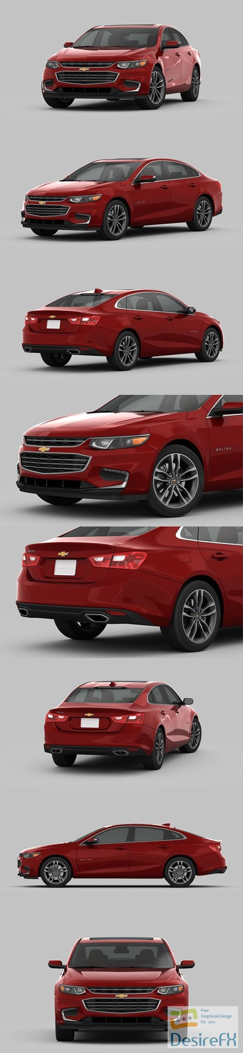 Chevrolet Malibu 2018 3D Model