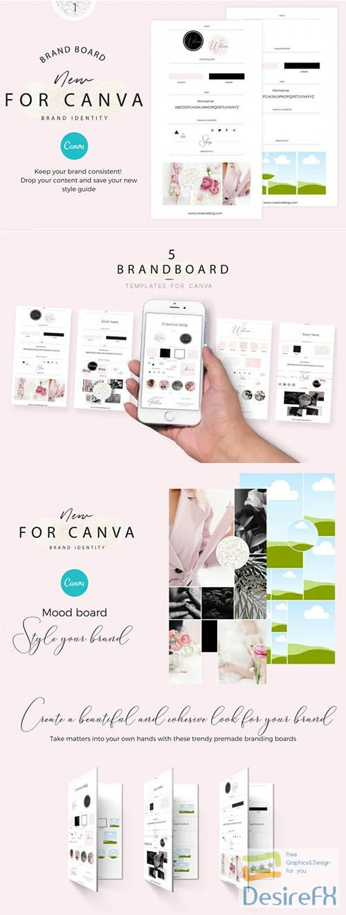 Mood boards Template