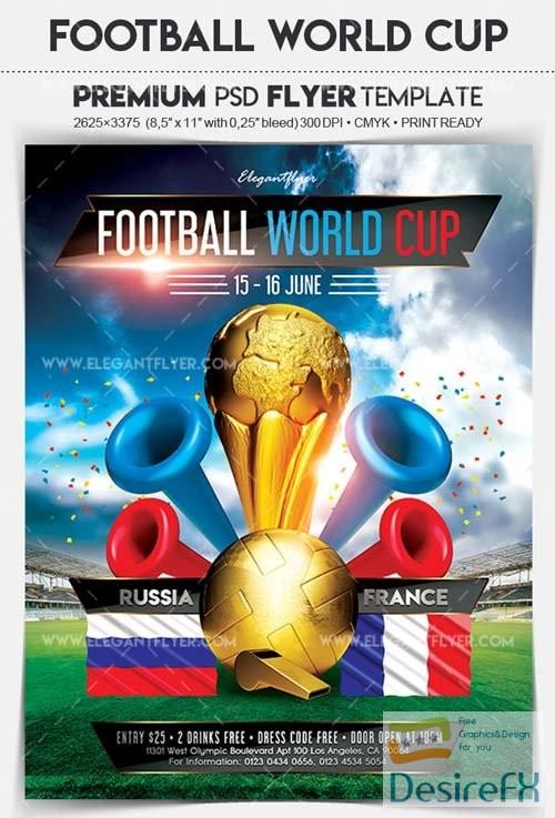 Football World Cup V3 2018 Flyer PSD Template
