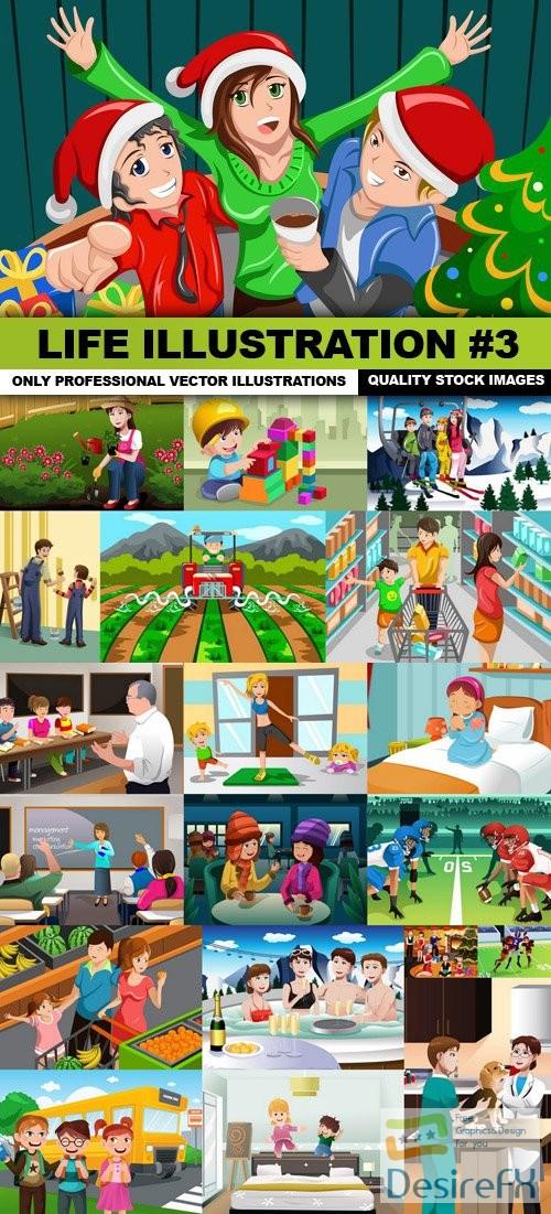 stock-vectors - Life Illustration #3 - 25 Vector