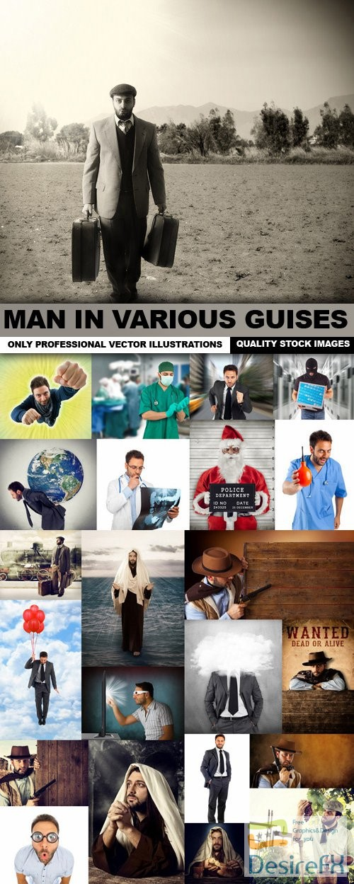 stock-images - Man In Various Guises - 25 HQ Images