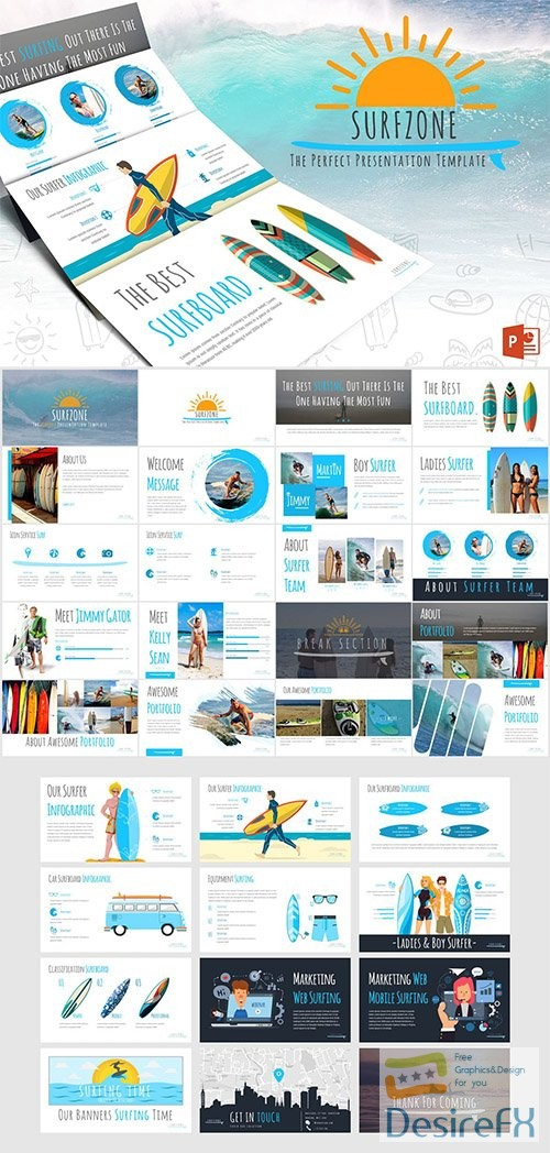 powerpoint-ppt - Surfzone - Powerpoint Template