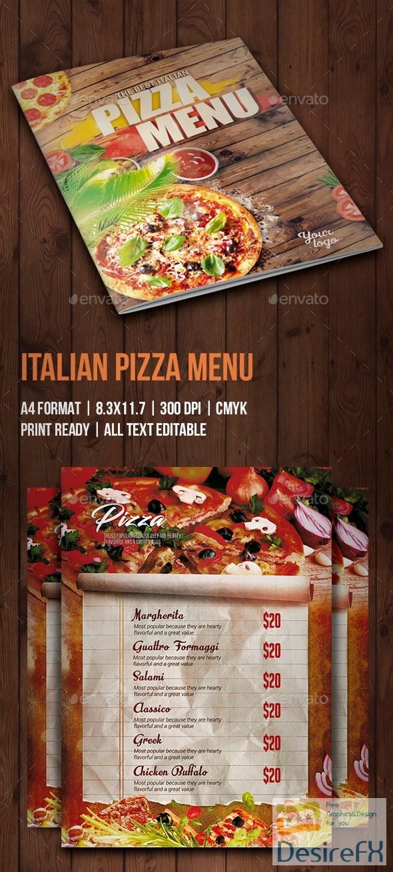 Italian Pizza Menu 22313238