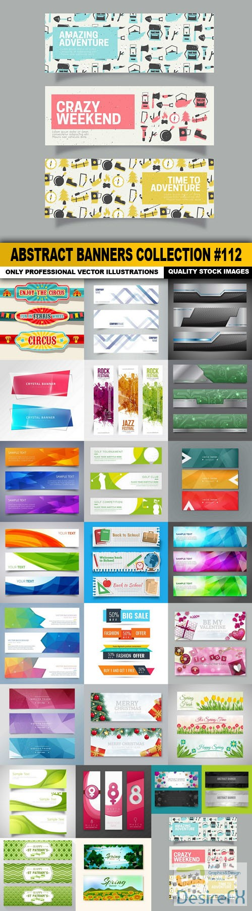 stock-vectors - Abstract Banners Collection #112 - 25 Vectors