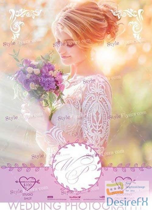 Wedding Photography V18 2018 PSD Flyer Template