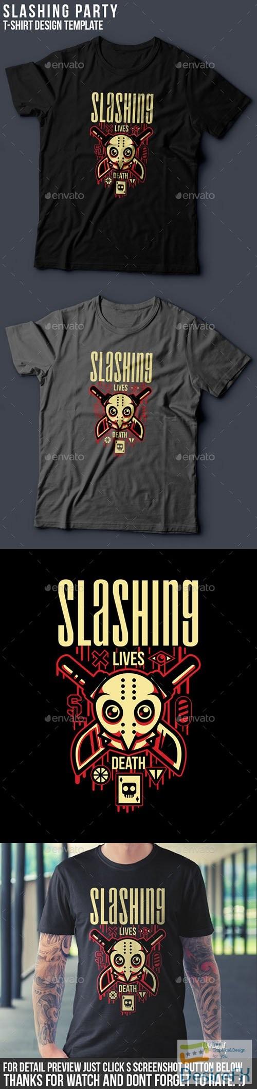 t-shirts-prints - Slashing Party T-Shirt Design 15143026
