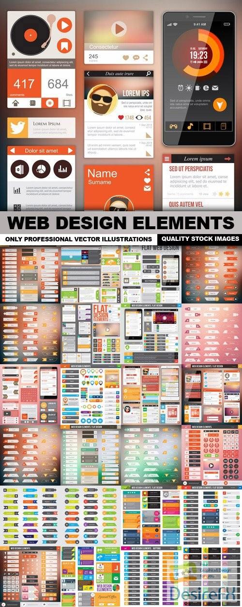 stock-vectors - Web Design Elements - 25 Vector