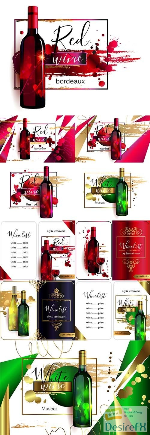stock-vectors - Vector Wine Posters and Lists