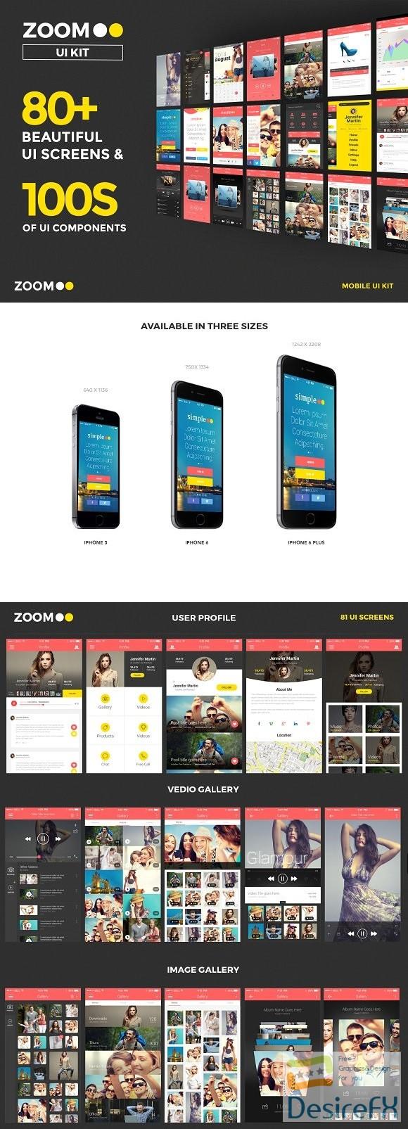 Zoom UI Kit (iPhone 5S, 6S & 6S +) 535910