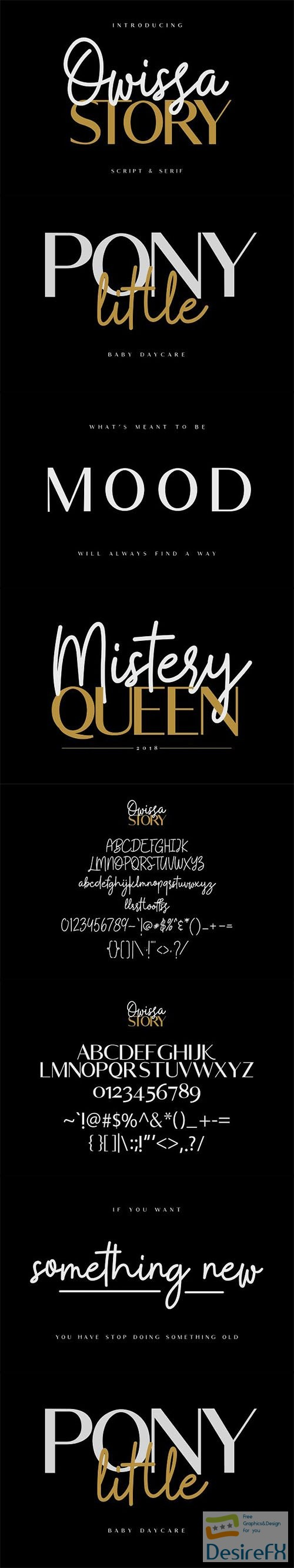 Owissa Story - Font Duo 2738592