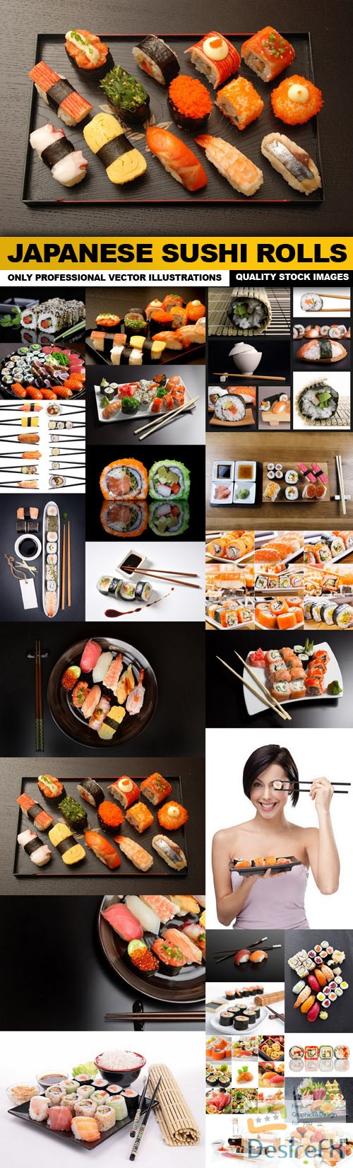 stock-images - Japanese Sushi Rolls - 25 HQ Images