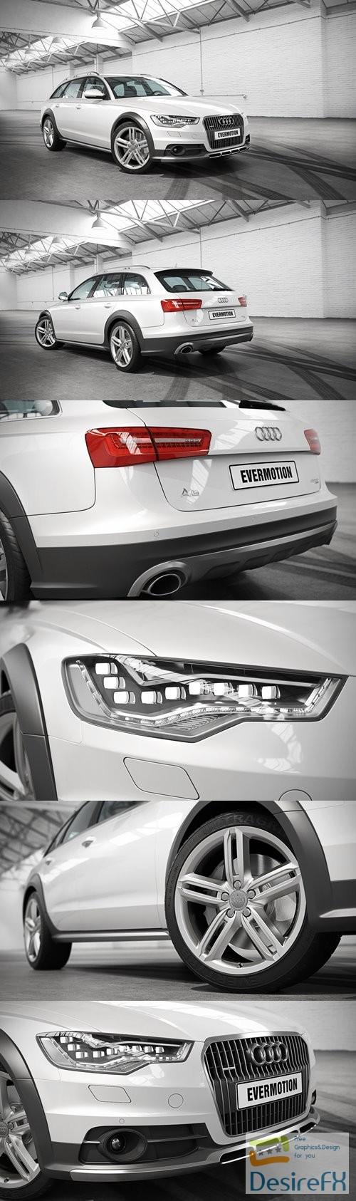 3d-models - Audi A6 Allroad Quattro Evermotion 3D Model