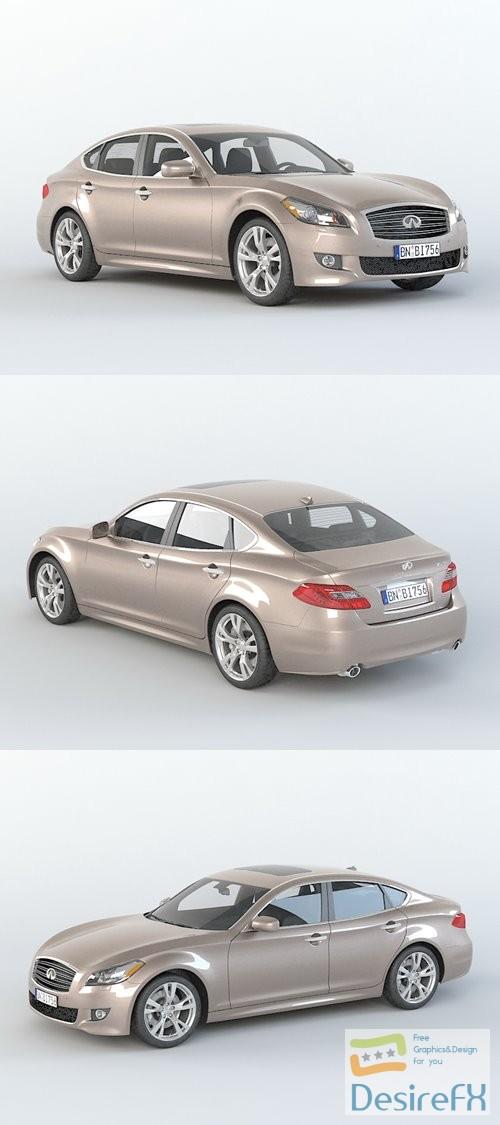 3d-models - Infiniti M56 Sedan 3D Model