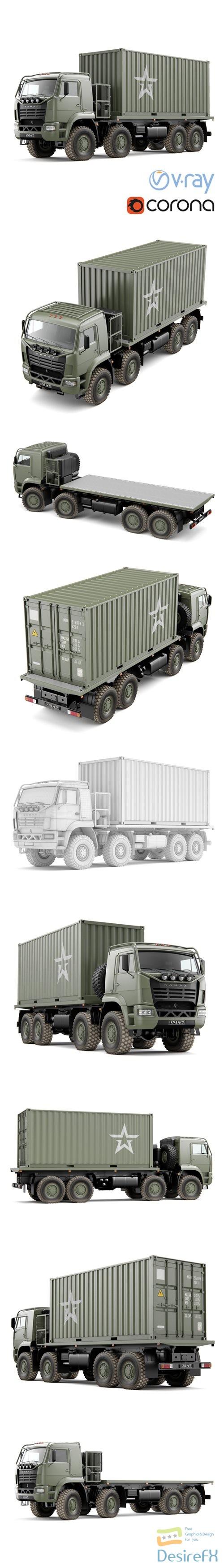 3d-models - Truck KAMAZ 6560 3D Model
