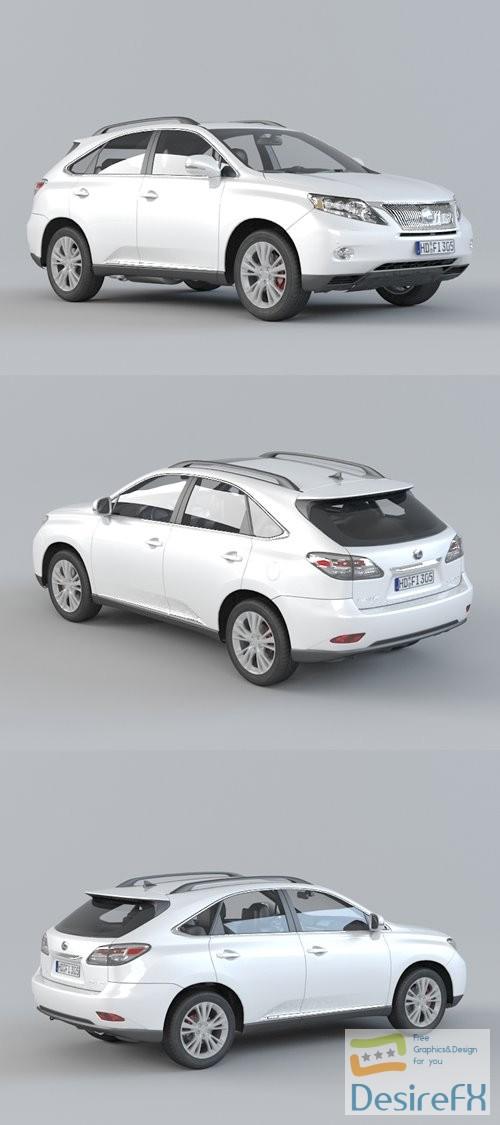 3d-models - Lexus RX 450H 3D Model