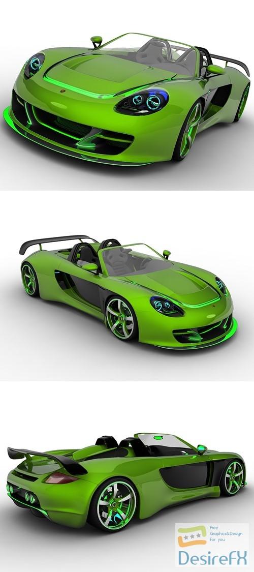 3d-models - Porsche Carrera GT Racer 3D Model