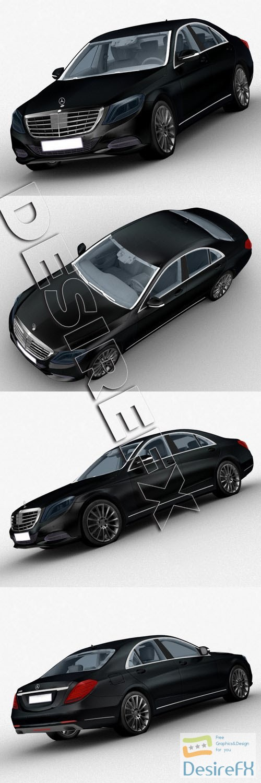 Mercedes-Benz S-Class S500 3D Model