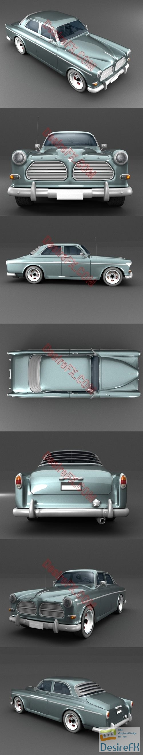 3d-models - Volvo Amazon 3D Model