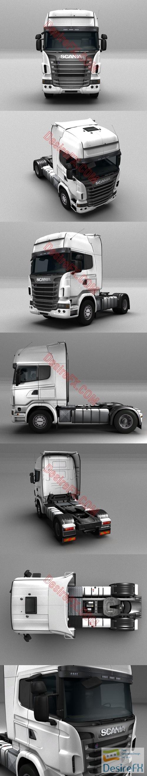 Scania truck R440 3D Model