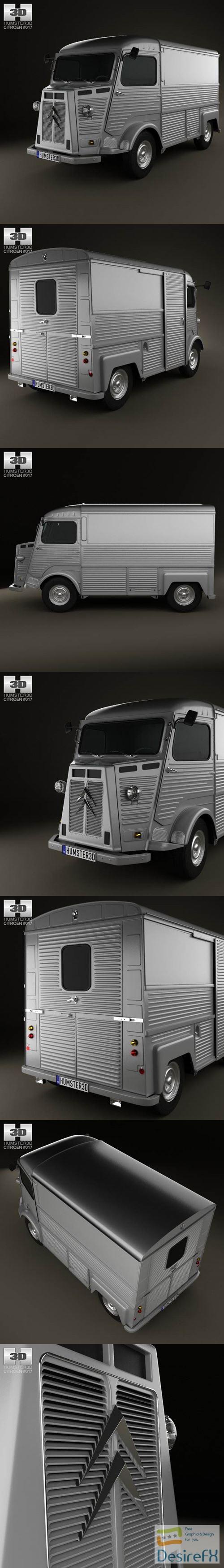 3d-models - Citroen H Van 1980 3D Model