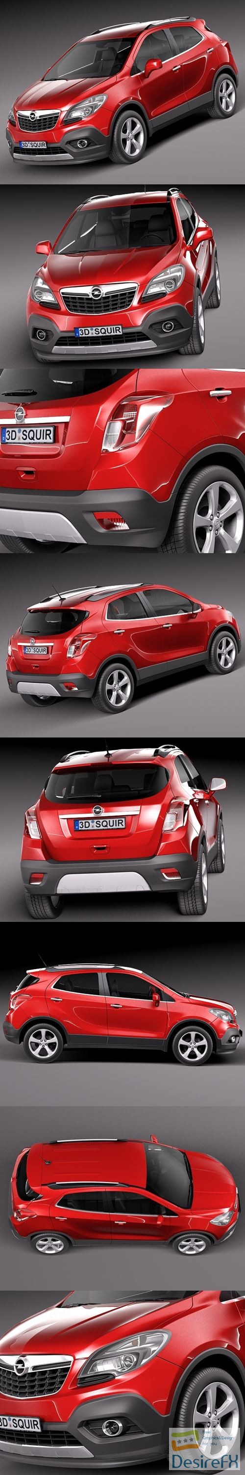 3d-models - Opel Mokka 2013 3D Model