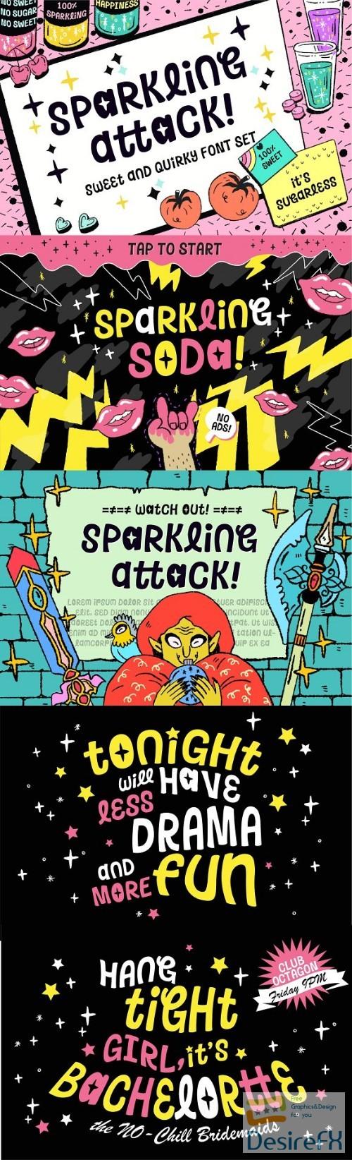 Desirefx com | Download Sparkling Attack – Playful Font