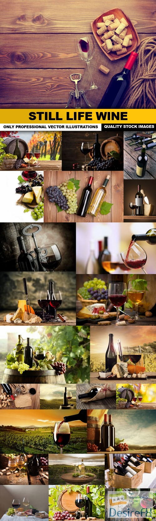 stock-images - Still Life Wine - 25 HQ Images