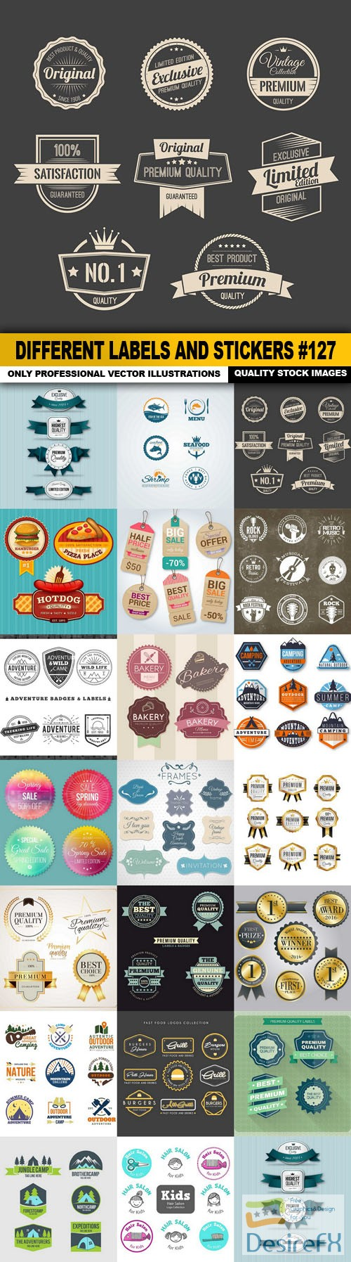 stock-vectors - Different Labels And Stickers #127 - 20 Vector