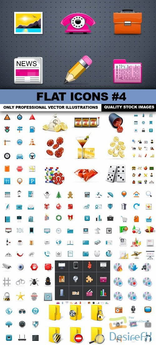 stock-vectors - Flat Icons #4 - 25 Vectors