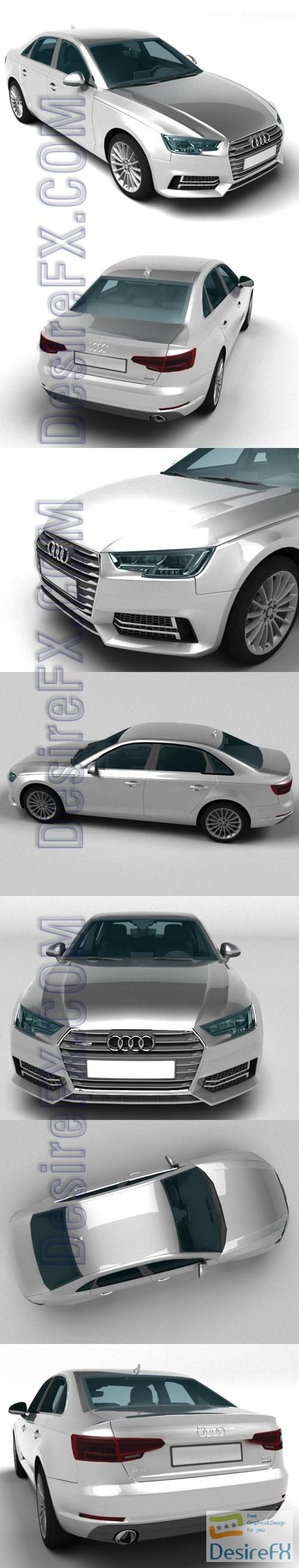 Audi A4 2017 3D Model