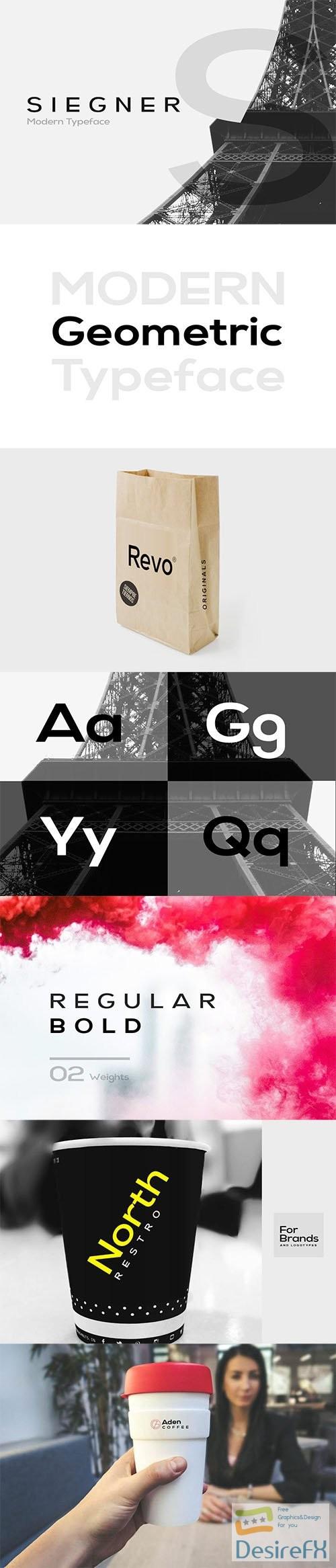 fonts - SIEGNER - Modern Typeface + WebFont 2743426