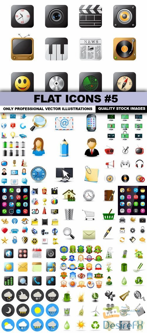stock-vectors - Flat Icons #5 - 25 Vectors