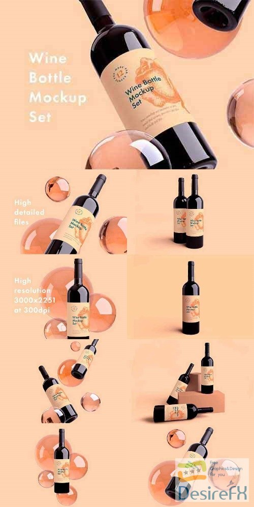 photoshop - Wine Bottle Mockup 2429712