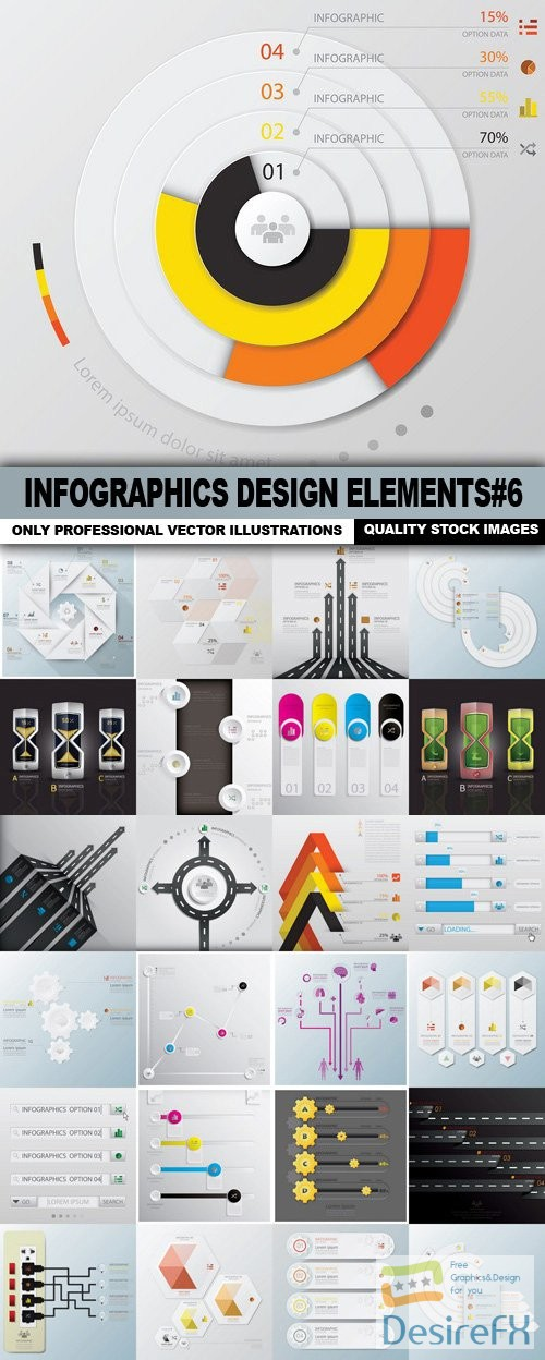 stock-vectors - Infographics Design Elements#6 - 25 Vector