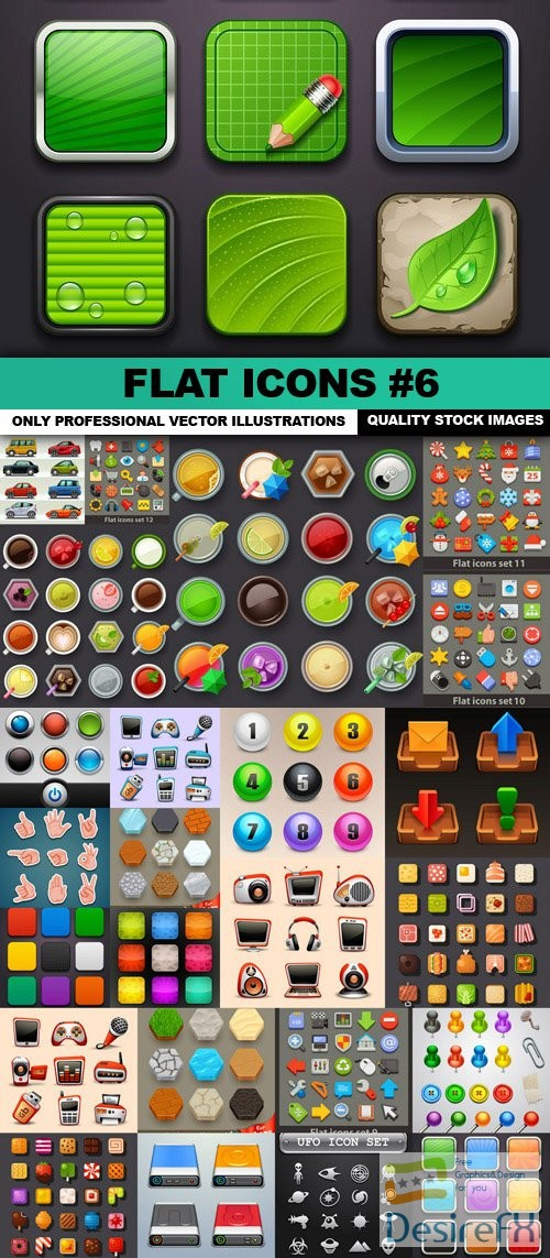 stock-vectors - Flat Icons #6 - 50 Vectors