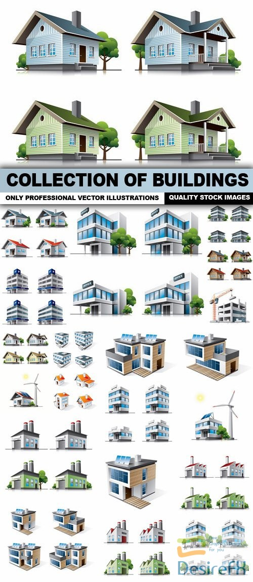 stock-vectors - Collection Of Buildings - 25 Vector