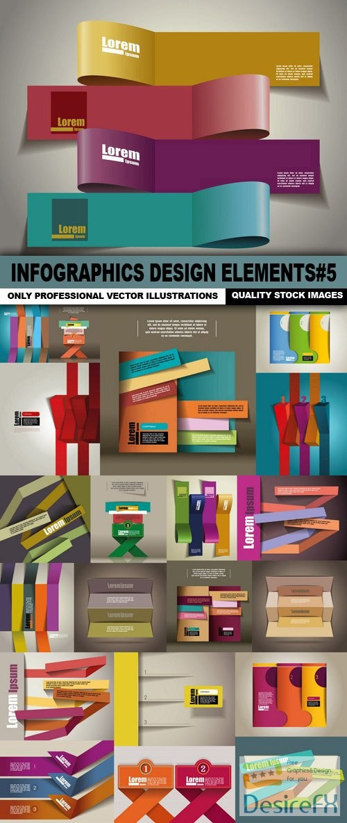 stock-vectors - Infographics Design Elements#5 - 25 Vector
