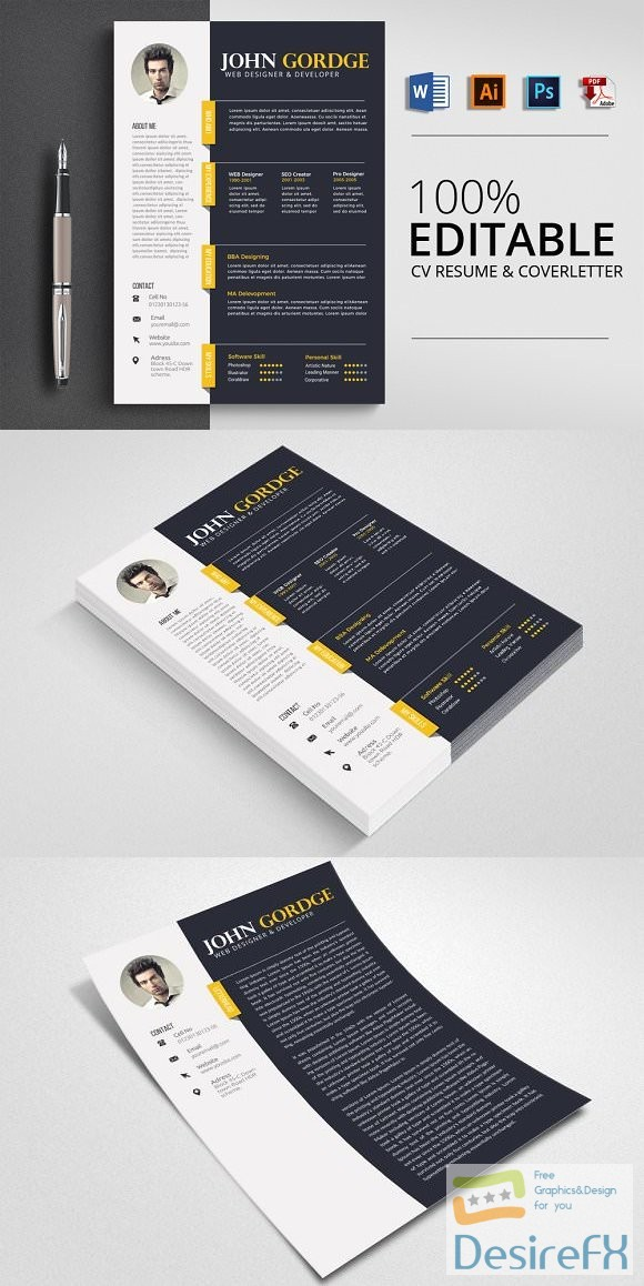 Word Professional Reusme Design 2607547