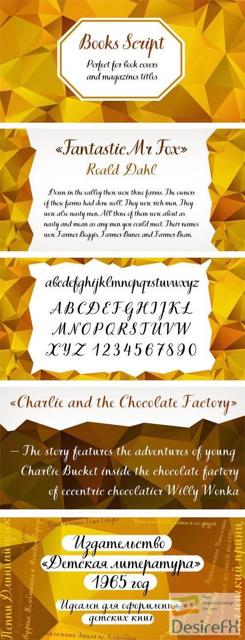 fonts - TT Books Script Font