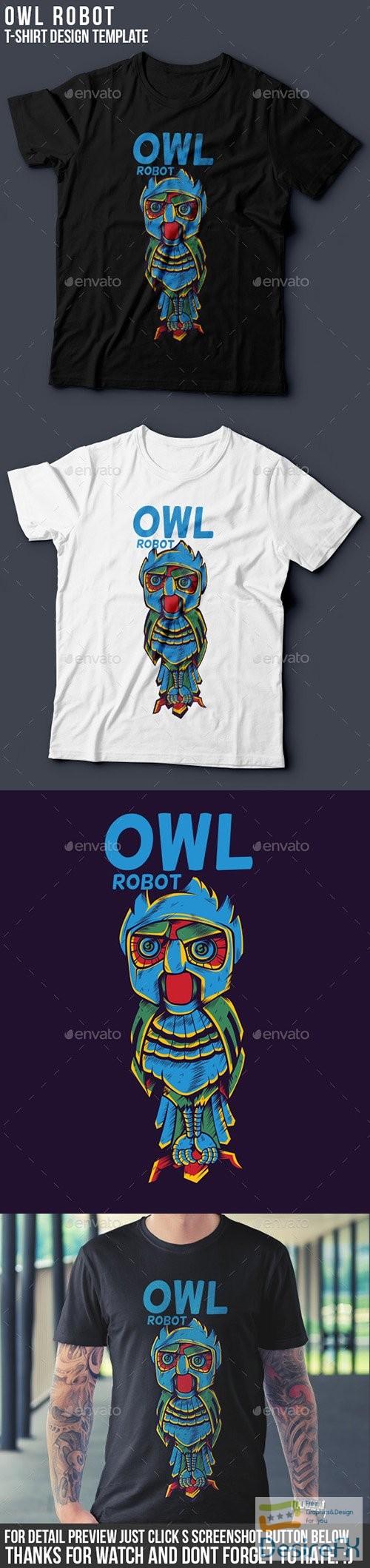 t-shirts-prints - Owl Robot 9516420