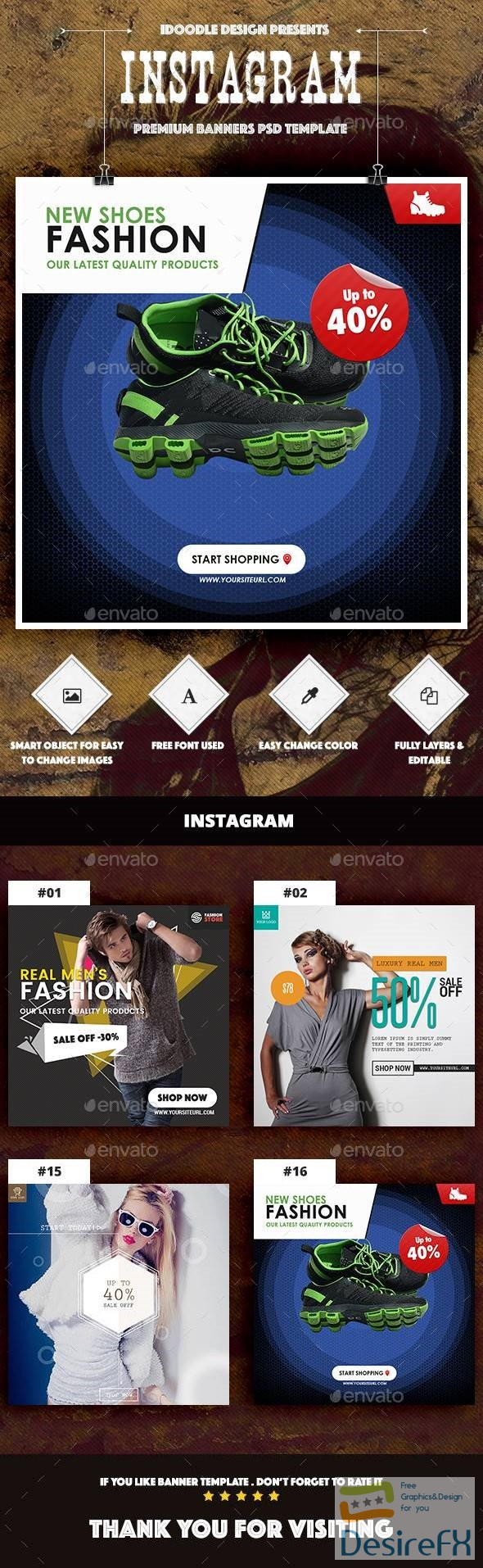 Instagram Product Banners Ads – 16 PSD 14526801