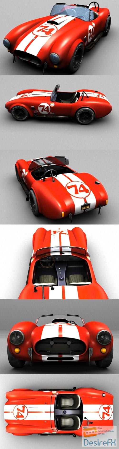 3d-models - Shelby Cobra 427 1966 3D Model