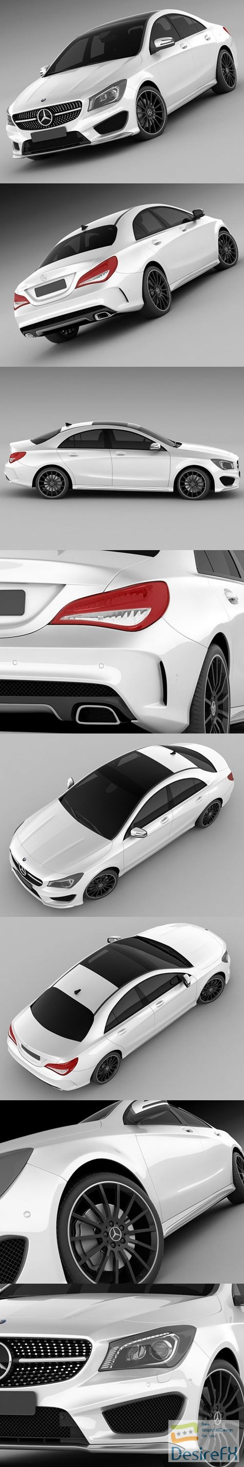 3d-models - Mercedes-Benz CLA AMG 2014 3D Model
