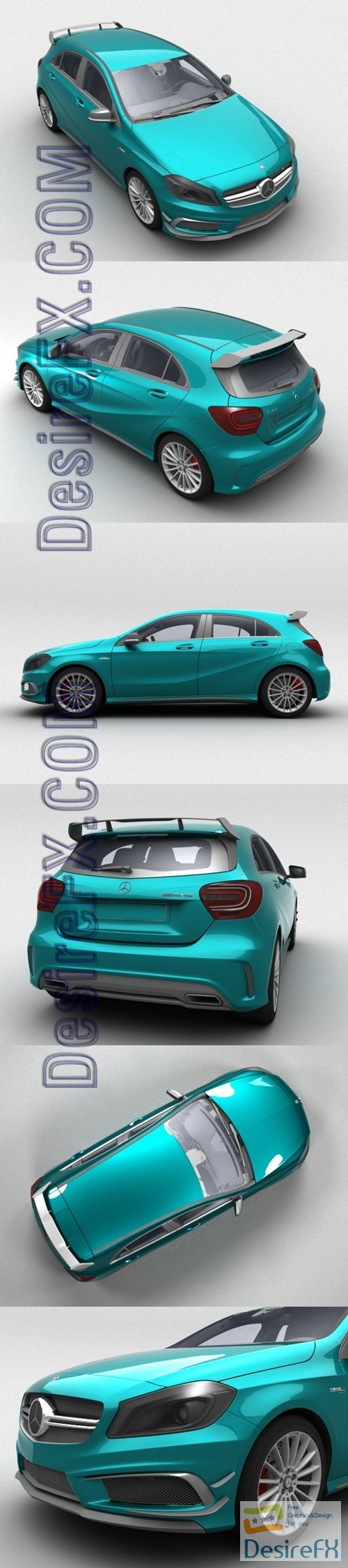 3d-models - Mercedes-Benz A45 AMG 3D Model