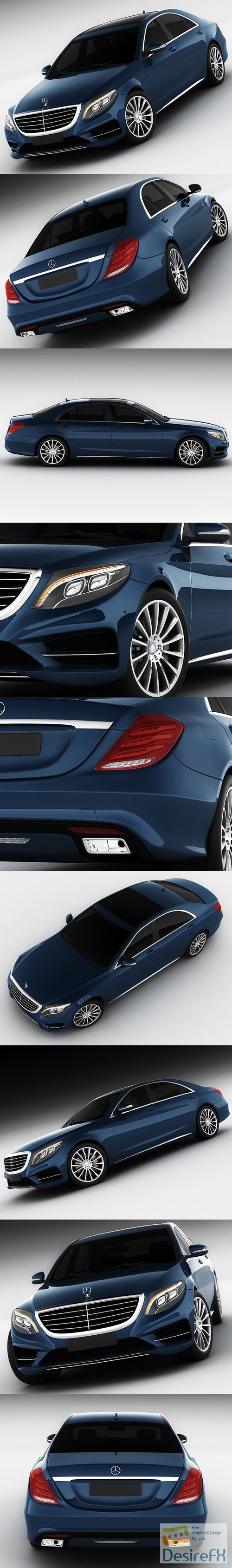 Mercedes-Benz S-class 2014 AMG 3D Model